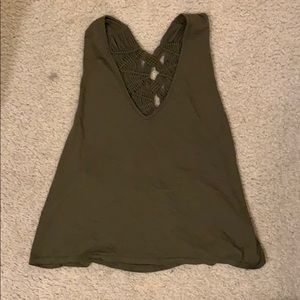 Free People Movement green top size M